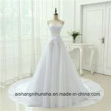 New Arrival Chiffon Robe Marriage Lace up Vintage Wedding Gown