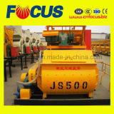 Compulsion Type Concrete Mixer, Js500 Twin Horizontal Shafts Concrete Mixer