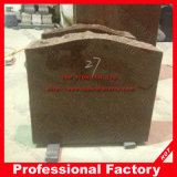 America Style Red Granite Headstone with Polished