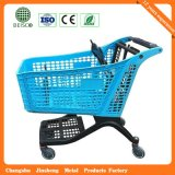 Pure Plastic Hot Sale Four Wheel Shopping Cart with Chair