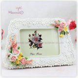 """Promotion Gift White Funia Love Resin Picture Photo Frame (4""""X6"""")"""