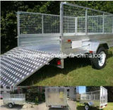 Hot Dipped Galvanized Caged Trailer with Aluminium Ramp /Mesh Ramp