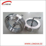 Food Grade Stainless Steel Union Sight Glass with Scraping Device