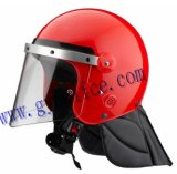 Red Anti Riot Full Face Safety Helmet