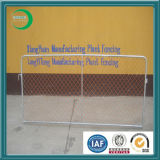 Galvanized Crowd Control Barrier with Chain Link Mesh