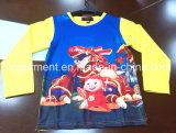 Kids Wear Cartoon Cotton Long Sleeve Shirt for Girl /Boy