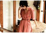Wholesale Clothing Women Floral Print Ruffle Maxi Long Dress Slash Neck One Piece Dress