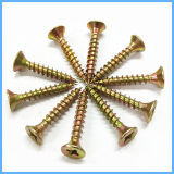 Yellow Zinc Self Tapping Chipboard Screw