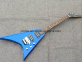 Metallic Sparkle Blue Floydrose Tremolo Swallow Tail Flying V Guitar All Color Accept