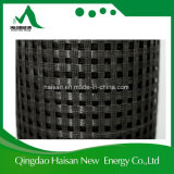 Black Color 120kn Synthetic Fiber Polypropylene / Polyester Biaxial Geogrid