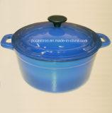 Round Cast Iron Saucepan with Enamel Coating