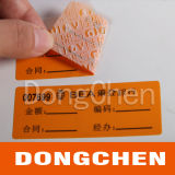 Self Adhesive Honeycomb Tamper Evident Anti Counterfeitign Security Label