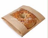 Custom Cheap Kraft Paper Bread Packging Bag with PVC Window