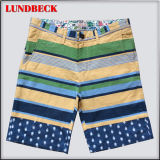 Stripe Cotton Shorts for Men in Leisure Style