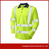 Customized Dry Fit Green Hi Vis Polo Shirts (P07)