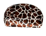 Best Selling Brown with White Special Shape Cosmetic Bag (KCC14A)