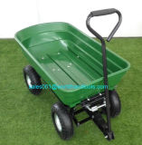Heavy-Duty Garden Poly Dump Cart Convertible Handle