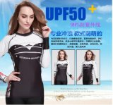 Anti-Static Lycra Long Sleeve Lady′s Wetsuit&Sportwear (CL-731)
