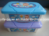 Baby Cleaning Wet Towel, with Plastic Container, Box Packing (BW-045)