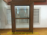 Solid Teak Wood Aluminum Picture Window with Grills