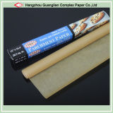 Unbleached Brown Baking Paper Roll with Silicone Treated
