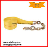 "Ratchet Winch Strap/Lashing Extension Chain 3""X30′ Yellow"