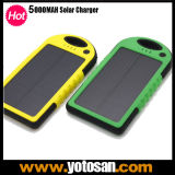 Waterproof Shockproof Portable Solar Charger 5000mAh Power Bank Battery