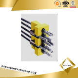 Flat Prestressed Anchor Coupler with Multiholes