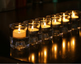 Small Crystal Glass Tealight Candle Holder Decoration