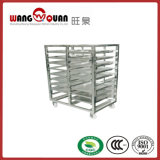 Kitchen Dining Room Service Stainless Steel Cart Gastronorm Trolley