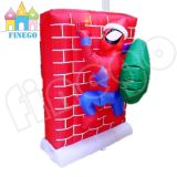 Inflatable Christmas Hat Spiderman Climbing Wall Decoration