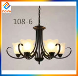 Vintage Chandelier Lamp in Handwork Glass Shade for Home Decoration