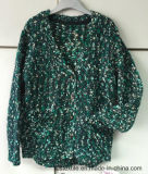 Girls′ Pompom Yarn Fancy Yarn True Knitted Sweater
