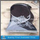 Absolute Black Granite Tombstone with Shadow Carving