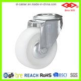 100mm White Nylon Swivel Bolt Hole Castor Wheel (G102-20D100X35)