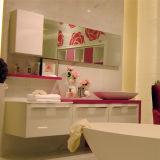 Oppein Wall-Mounted Rose Pink Modern Bathroom Cabinet (OP12-P17-186)