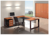 Stainless Steel Foot Wooden Top Executive Desk (SZ-OD212)