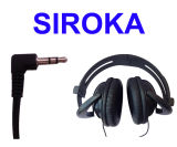 Foldable High Fidelity Surround Sound MID Noise Canceling Wired Stereo Headphone Headset