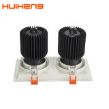 Hot Sale Adjustable 30W*2 LED CREE COB Double Grille Downlight