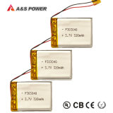 UL 303040 Rechargeable 3.7V 320mAh Lithium Polymer Battery