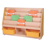Modern Kids School Shelf with Storage Cabinet