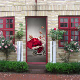 3D Door Wallpaper Murals Wall Stickers for Home Decoration Retro Art Door Decals