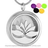 Lotus Flower Design Perfume Diffuser Essential Oil Necklace
