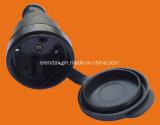 Elendax IP44 Grade Professional 16A/250V Schuko Rubber Industrial Plug (P6061)