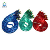 3 Male to 3 Male Transparent RCA Cable for AV