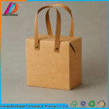 Recyclable Rectangle Cardboard Kraft Paper Box with Handle