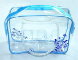 PVC Transparent Clear Waterproof Fashion Travel Cosmetic Bag (MECO224)