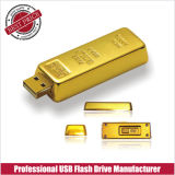 Gold Bar USB Flash Disk OEM Pen Drive