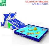 Adult Inflatable Shark Water Park with Pool (Mobile Water Park-005)