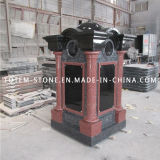 Indian Red Granite Stone Mausoleum Columbarium for Cemetery